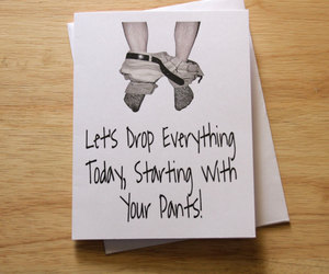 adult humor, boyfriend gift, and funny card image