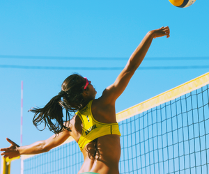 fitness, playa, and volley image