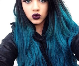 color, hair, and blue image