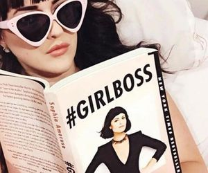 fashion, book, and girl boss image
