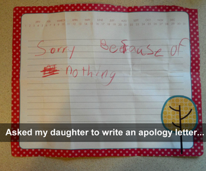 funny, daughter, and apology image