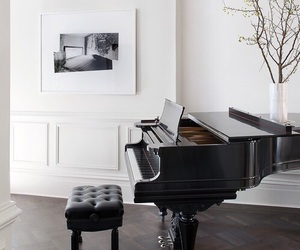piano, music, and home image