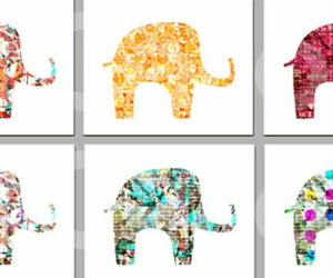 blue, color, and elephant image