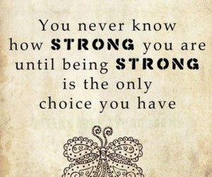 be strong and text image