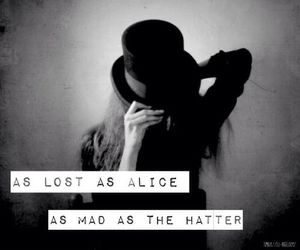 alice, lost, and alice in wonderland image