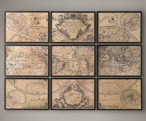 decor, diy, and map image