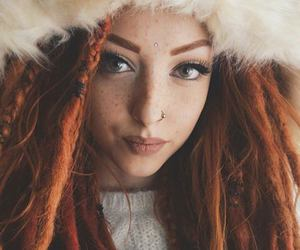 beauty, freckles, and hair image