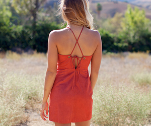fashion, suede, and back detail image