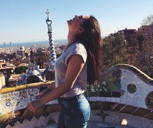 architecture, beautiful, and brunette image