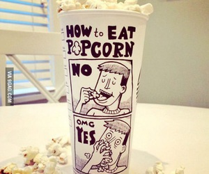 popcorn, food, and funny image