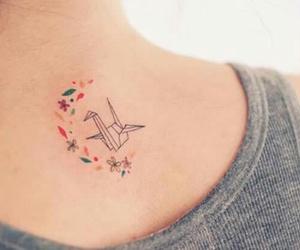 tattoo, tatto, and origami image