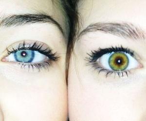 eyes, girl, and blue image