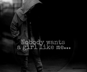 sadness, alone, and dark image