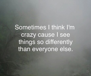 crazy, quotes, and different image