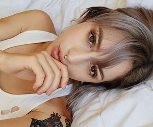 alternative, grey hair, and silver image