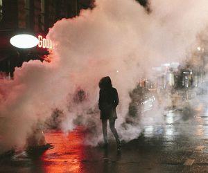 night, smoke, and city image