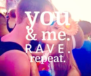 couple, electro, and rave image