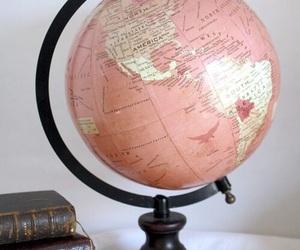 pink, world, and globe image