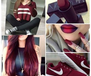 red, hair, and nike image