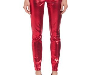 jeans, metallic, and red image