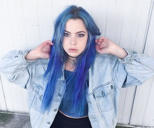 blue hair, aesthetic, and dyed hair image