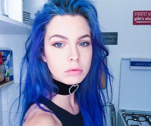 aesthetic and blue hair image