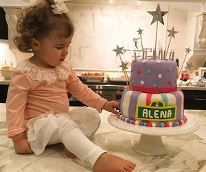 adorable, baby, and birthday cake image