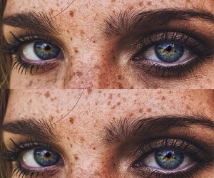eyes, freckles, and blue image