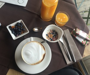 coffee, fruit, and lifestyle image