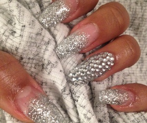 bling, glitter, and nails image