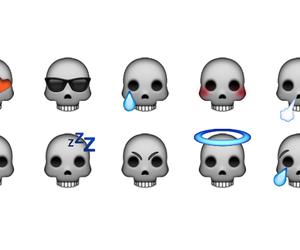 emoji, skull, and emojis image