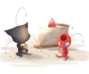 Chat Noir, ladybug, and tikki image