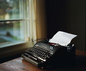 typewriter, book, and write image