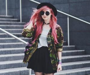 alt girl, dyed hair, and kawaii image