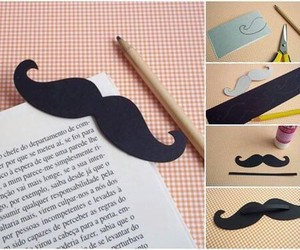 book, diy, and mustache image