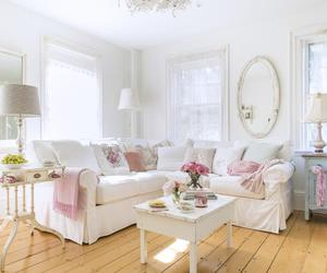 decorating, living room, and pastel image