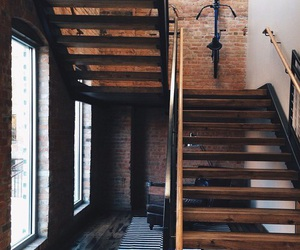theme, brown, and stairs image