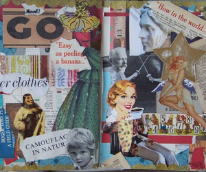 art, book, and Collage image