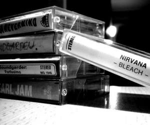 nirvana, pearl jam, and cassette image