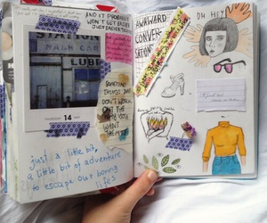 art, book, and journal image