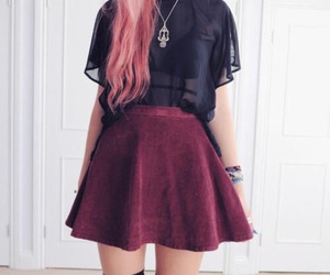 grunge, outfit, and black image