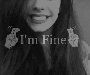 fine, smile, and sad image