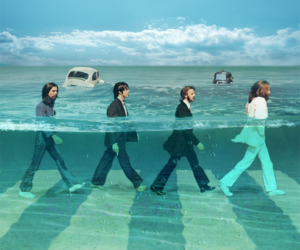 abbey road, the beatles, and underwater image