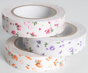 flowers and tape flowers image