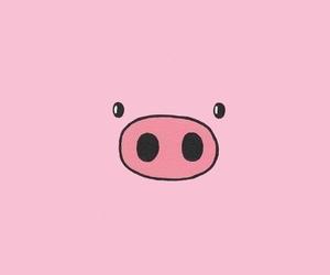pig, pink, and wallpaper image
