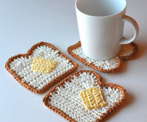 bread and butter, breakfast, and crochet image