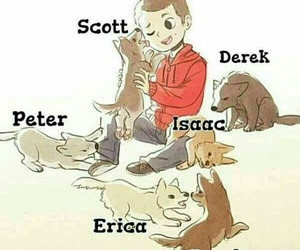 teen wolf, stiles, and derek image