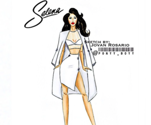 fashion illustration, selena quintanilla, and ponyy boyy image