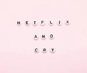 netflix, cry, and pink image