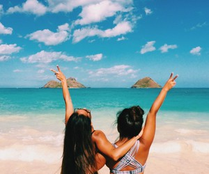 beach, travel, and friends image